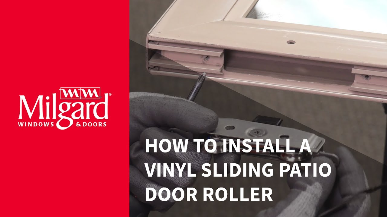 How to Install a Patio Door Roller - YouTube