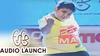 Akshat Singh Dance Performance at A Aa Audio Launch || Nithiin, Samantha, Trivikram