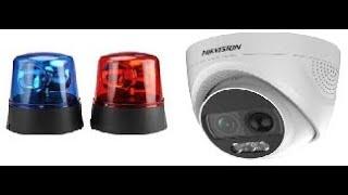 Hikvision Turbo X Siren/Police Light Demonstration DS-2CE72DFT-PIRXOF