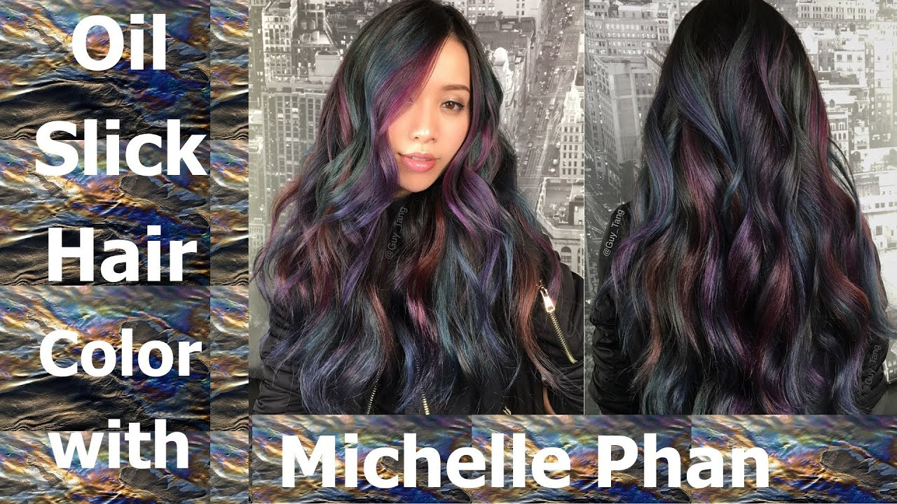 Oil Slick Hair Color Tutorial With Michelle Phan Youtube