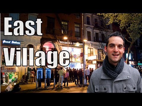 Neighborhood Tour of East Village, Manhattan- Best Nightlife NYC ?