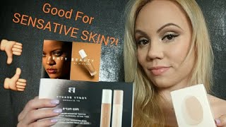 *New* FENTY BEAUTY FOUNDATION {210 & 150} 2 SHADES|+Primer/Sponge/*Fair skin*Sensitive Skin?? 💭