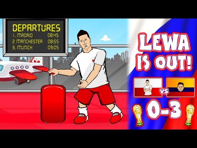 😲LEWANDOWSKI IS OUT!😲 Poland 0-3 Colombia (Parody Reaction Transfer News)
