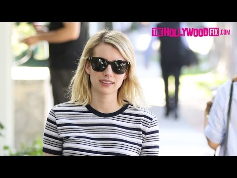 Emma Roberts Gets Embarrassed & Camera Shy While Shopping On Melrose Place 3.15.16