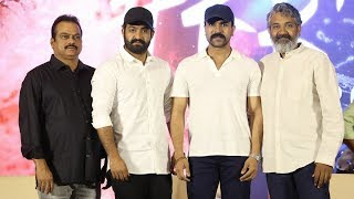 RRR Press Meet Full Video | Jr NTR, Ram Charan, SS Rajamouli | Manastars