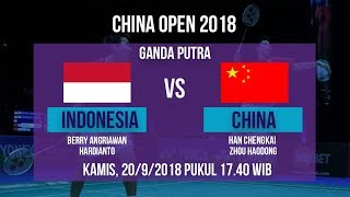 Jadwal Live Ganda Putra, Angriawan/Hardianto Vs China, di China Open 2018 Pukul 17.40 WIB