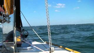 Cape Cutter 19 - Zephyr does down wind sailing