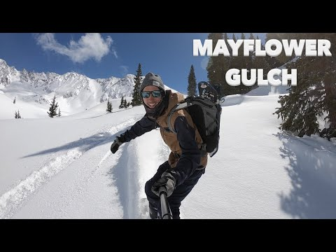 Hitting Untouched POW In Mayflower Gulch | Backcountry Snowboarding