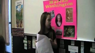 Emma's Martha Washington Presentation