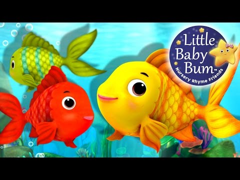 Numbers Song | Counting Fish | Nursery Rhymes | Original Song By LittleBabyBum!