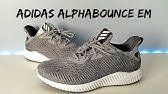 de4016ff4 Adidas Alphabounce EM Tan BB9041 Unboxing + On Feet - YouTube