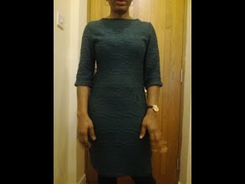 How to sew a dress with sretch fabric