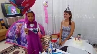 Elife evde doğum günü yaptık, Elif Maşa oldu , Eğlenceli çocuk su