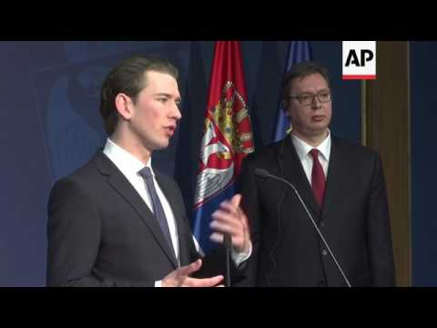 Austria praises Serbia for closing migrant route
