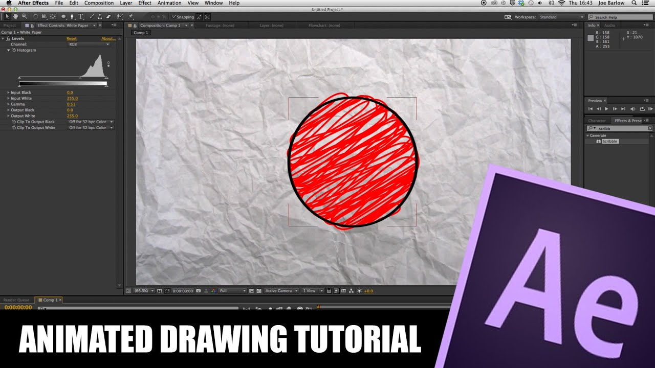 Line Art In After Effects : After effects tutorial animated drawing youtube