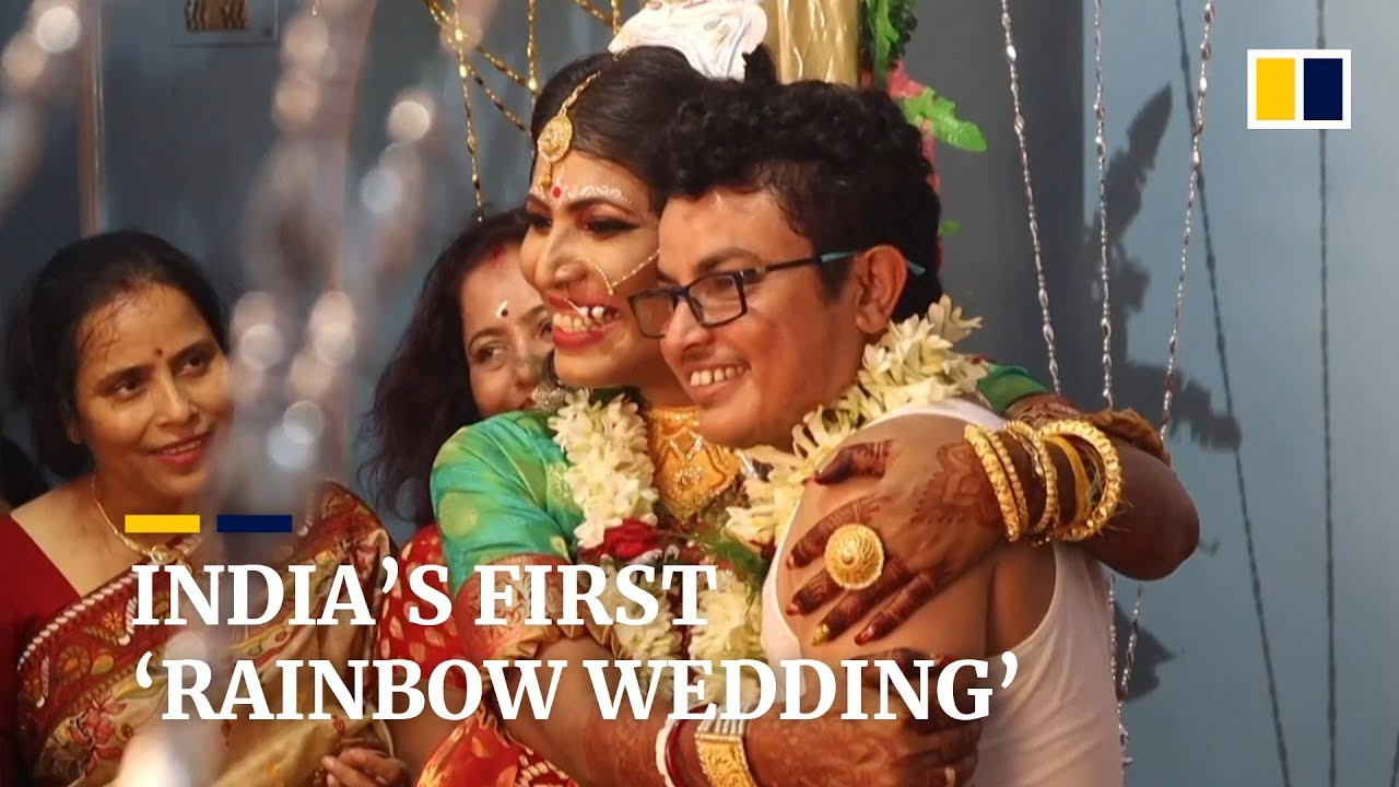 Download India's first transgender couple tie the knot in traditional Bengali wedding