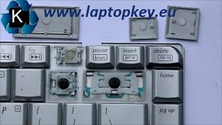 How to install key in keyboard HP DV4 DV5 CQ40 V6000 and many others...