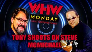 In this clip from what happened when, tony schiavone shoots on former nfl bears great, 4 horsemen, and wcw us champion, steve mcmichael.logos album art b...