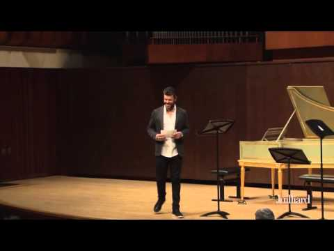 Pablo Heras-Casado Master Class at The Juilliard School: Introduction