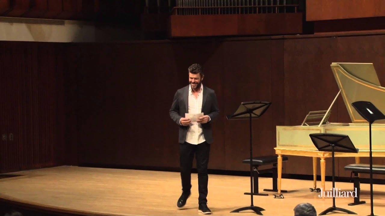 Pablo Heras-Casado Master Class at The Juilliard School: Introduction