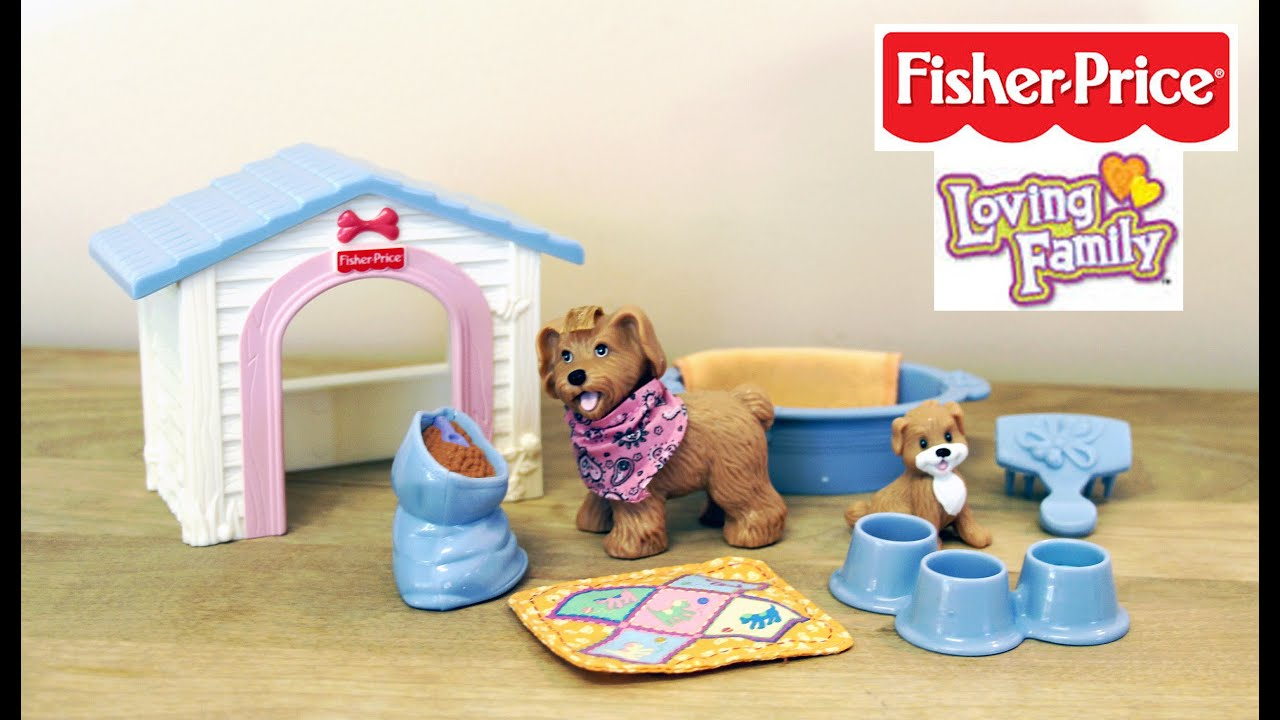 Great Fisher Price LOVING FAMILY PUPPY Playtime   Doll Furniture 💜   YouTube