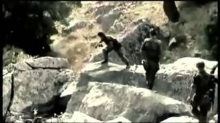 Algerian war - French army assault on a cave