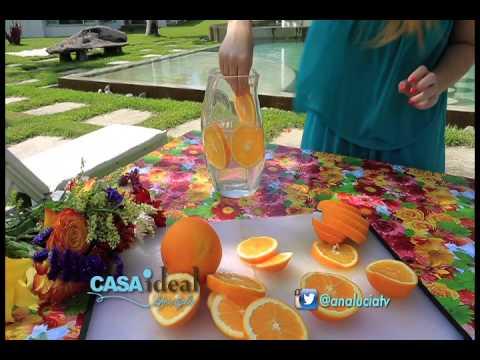 Tip jarr n con naranjas verano 2015 casa ideal youtube for Centros de mesa con frutas