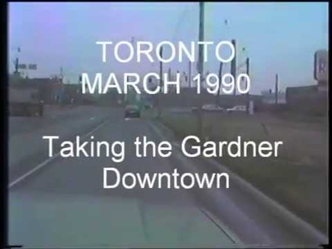 TORONTO - MARCH 1990 - Taking the Gardiner Downtown