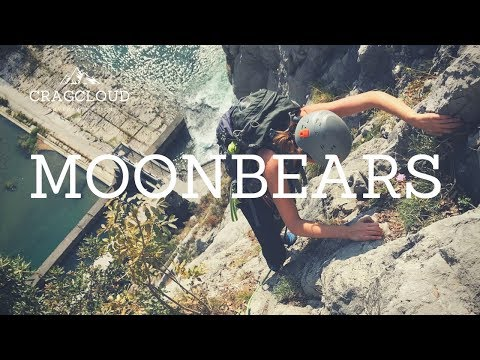 Moonbears multi-pitch sport climbing route near Arco in Italy