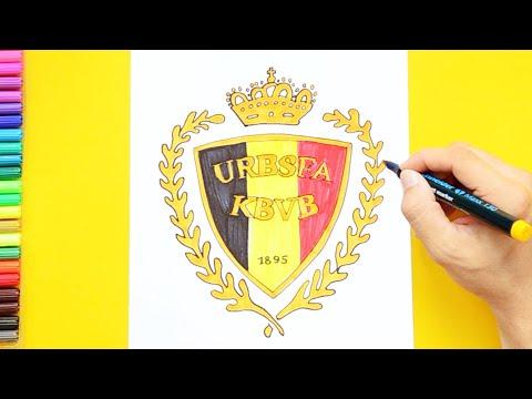 How to draw Belgium National Football Team Logo