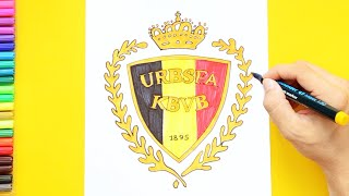 How to draw and color Belgium National Football Team Logo