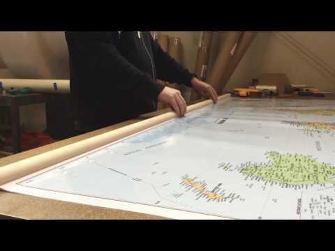 1-World Globes & Maps - Wood Rails