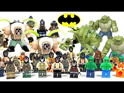 LEGO Batman Rogues Gallery Bane & Killer Croc Villains Minifigure & Big Figure Collection