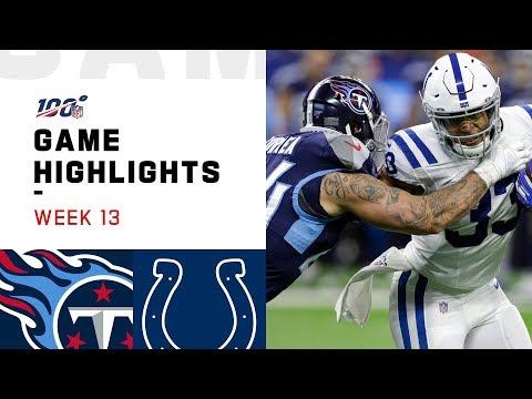Titans vs. Colts Week 13 Highlights | NFL 2019