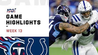 Titans vs Colts Week 13 Highlights  NFL 2019