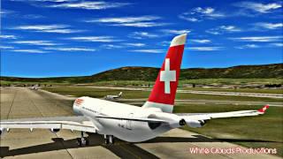 FS2004 HD - Swiss A340-300 Taking Off at Geneva
