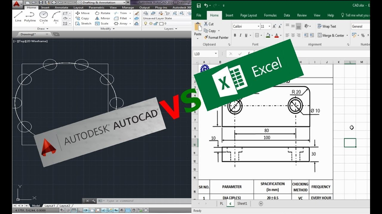 Drawing in Excel ! CAD vs EXCEL ! ASK Mechnology !!!
