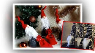 How to make Christmas gnomes. Scandinavian Tomte Nisse Christmas Gnome DIY Tutorial