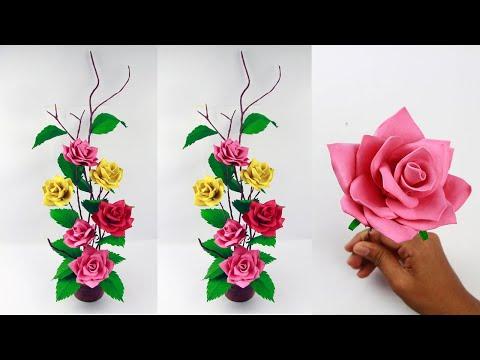 make-table-top-flower-sticks-origami-|-room-decoration-idea-|-easy-craft
