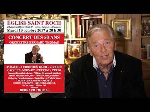 Concert des 50 ans ! 10 octobre à Saint-Roch - Orch. Bernard Thomas