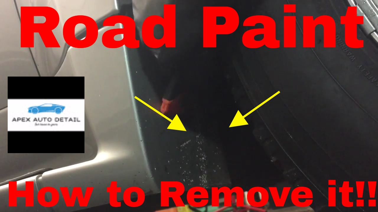 How To Remove Road Paint From The Surface Of Your Car Or Truck