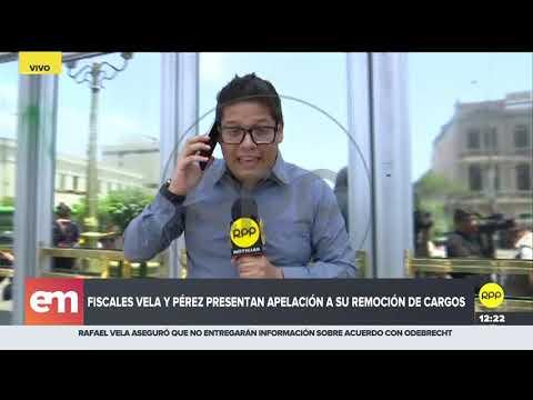 José Domingo Pérez y Rafael Vela presentaron la apelación a su destitución del Caso Lava Jato