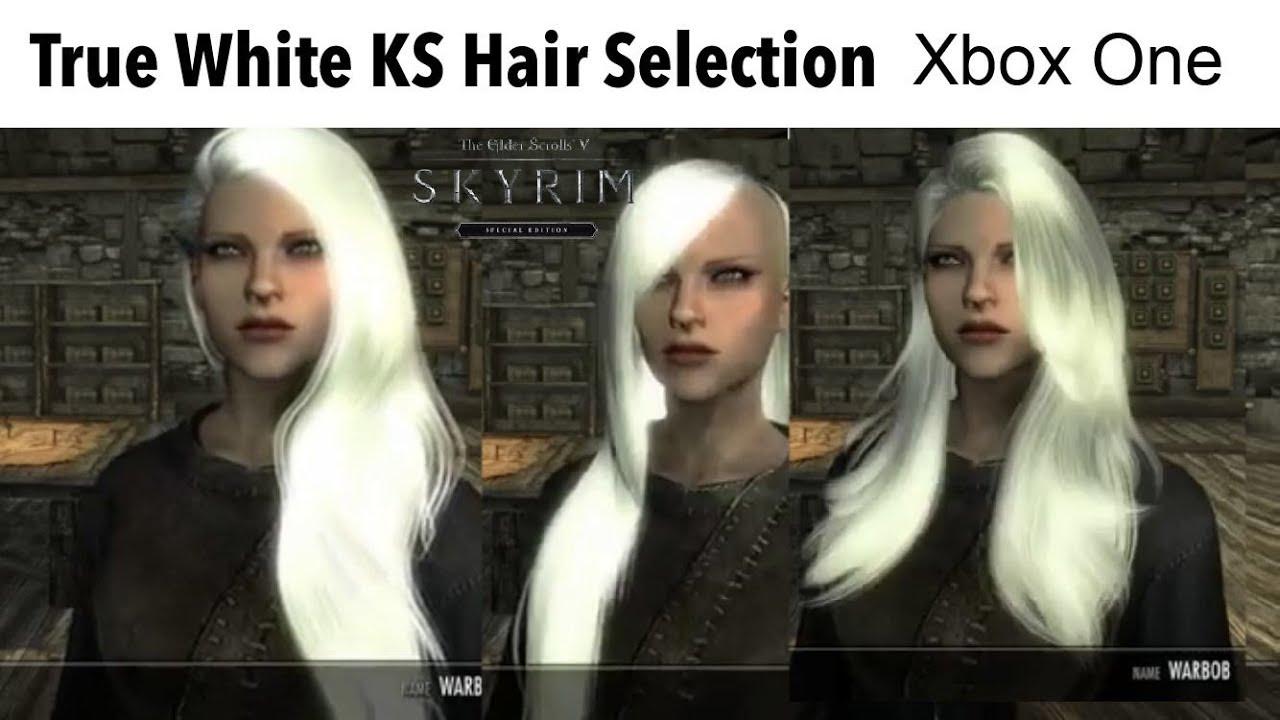 Skyrim SE Xbox One/PC Mods|True White KS Hair Selection