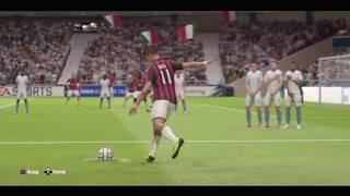 FIFA 19 Штрафной удар от Дибалы. Обманул вратаря.