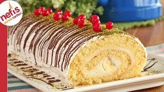 ŞOV ZAMANI 🥳 30 Dakikada Az Malzemeyle Yumuşacık Rulo Pasta