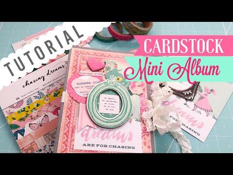 "Cardstock Mini Album ❀ Using a 6x6 paper pad | ""Use Your Paper"" Series Idea #5"