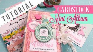 "Cardstock Mini Album ❀ Using a 6x6 paper pad   ""Use Your Paper"" Series Idea #5"