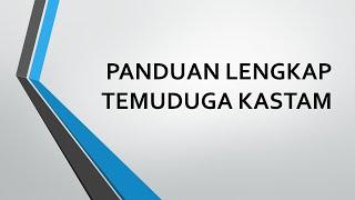 Panduan Temuduga Kastam Diraja Malaysia (KDRM)
