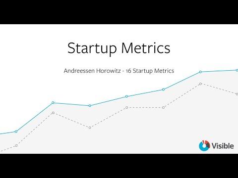Startup Metrics Template - A16Z 16 Startup Metrics