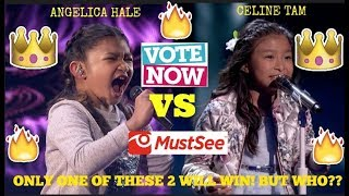 aNGELICA HALE VS CELINE TAM! QUARTER FINALS! WHO WILL WIN AGT 2017? Let's vote now! (MY THOUGHTS!)